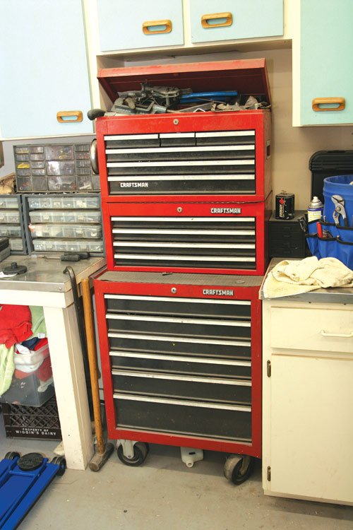 Start with a rolling toolbox and add top or side boxes as needed. Time spent planning your garage ahead of time pays big dividends in the long run.
