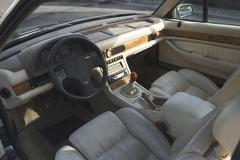 Little touches, such as the large Swiss clock mounted in the dash, add up to set the Biturbo apart from other mass-produced sedans and coupes of its era.