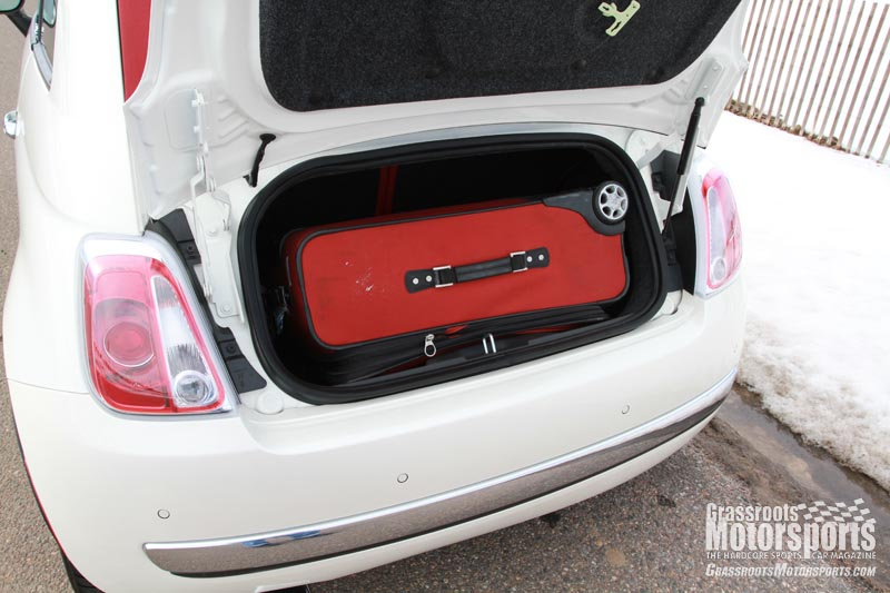fiat 500 interior trunk. pack lightly fiat 500 interior trunk