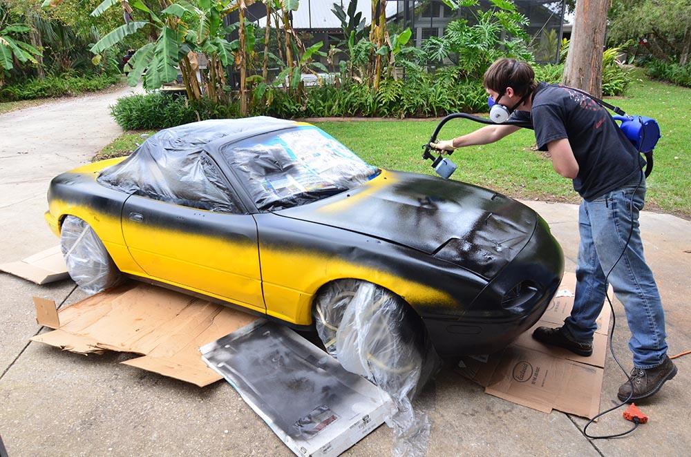 Our Miata Earns Its Stripes | Mazda Miata - Sunburst Yellow