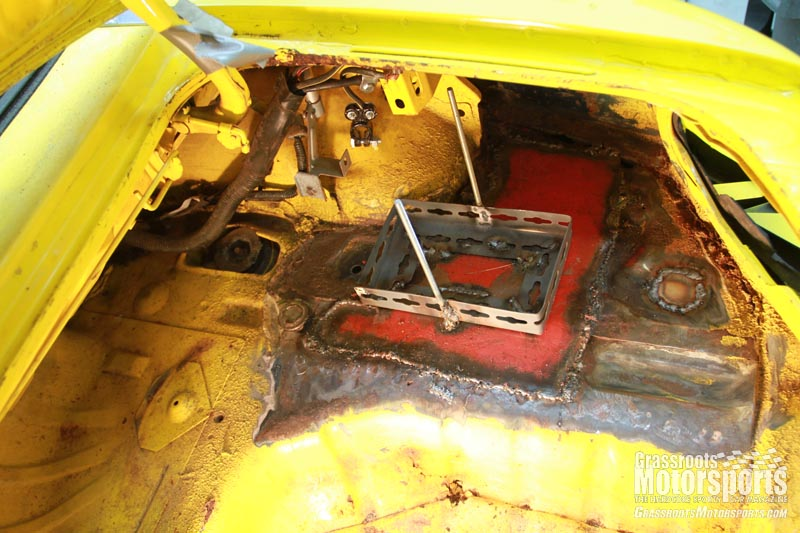 How To Replace A Car Battery Tray Mustang